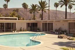 Modern pool house nestled in the foothills