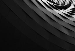 Abstract black geometric shape