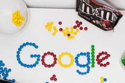 Colorful-Google-logo-made-from-M&Ms