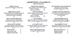 Humblebrags Breakfast Menu Items